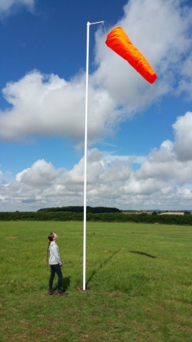 A young visitor checking out the new windsock.