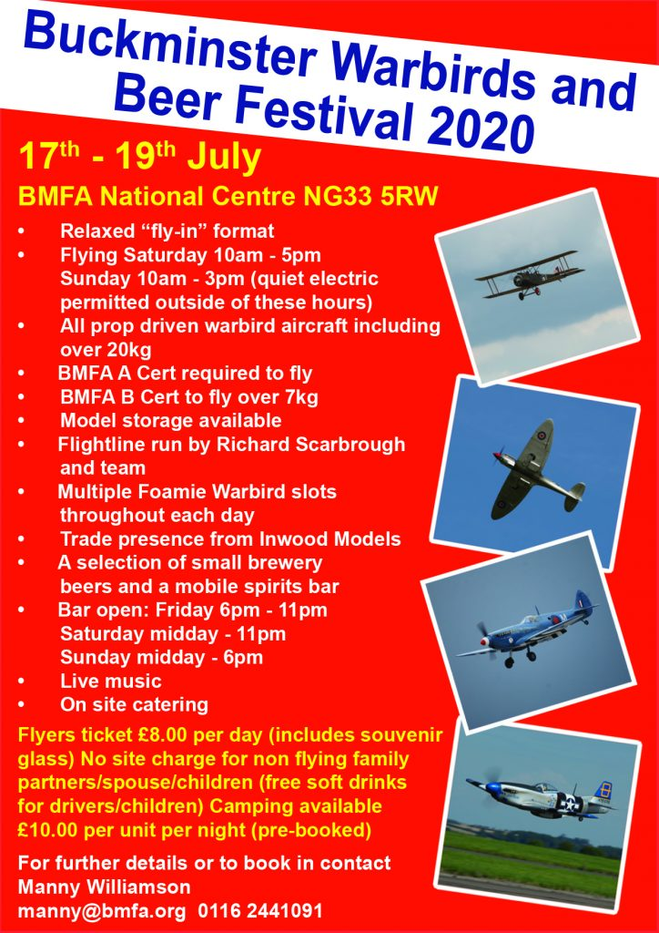 ***CANCELLED*** Warbirds and Beer Festival @ BMFA Buckminster | Sewstern | England | United Kingdom