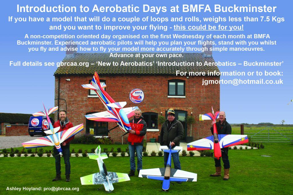 ***Cancelled*** Introduction to Aerobatics @ BMFA Buckminster | Sewstern | England | United Kingdom